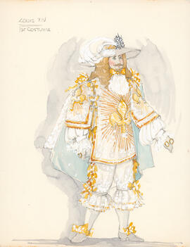 Costume design for Louis XIV : first costume