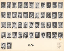 Composite Photograph of the Faculty of Medicine - Class of 1966