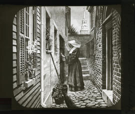 Evangeline in Philadelphia : [photograph of an illustration by Frank Dicksee]