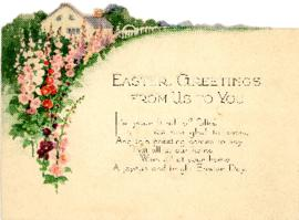 Easter Postcard to Cousin Carrie from Waite Bigelow