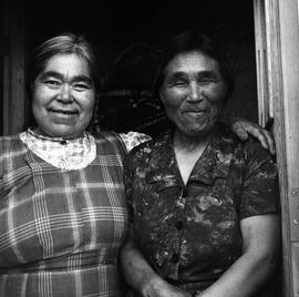 Photograph of Minnie Ananak and Jeannie Snowball in Fort Chimo, Quebec
