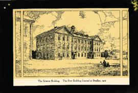 The Science Building : the first building erected at Studley, 1912
