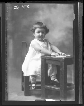 Photograph of the daughter of Mrs. Frank Young