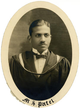 Portrait of Manilal Shankerohai Patel : Class of 1926