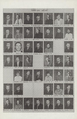 Composite photograph of the Faculty of Medicine - Fifth Year Class 1972-1973 (Ling - Young)