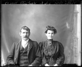Photograph of Nellie Ross & a male friend