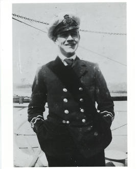 Photograph of Thomas Head Raddall in uniform as a wireless officer