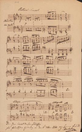 Autograph and musical incipits by Ignaz Moscheles
