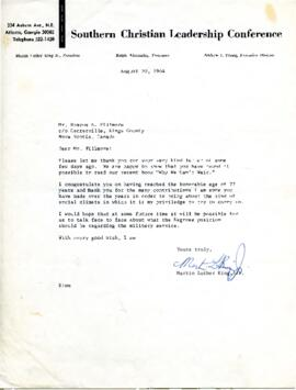Letter from Martin Luther King, Jr. to Roscoe Fillmore