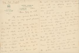 Letter from Heitor and Arminda Villa-Lobos to Ellen Ballon