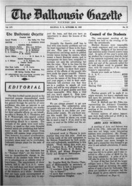 The Dalhousie Gazette, Volume 54, Issue 15