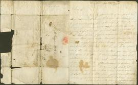 Two letter written by Phos Boyd to James Dinwiddie,