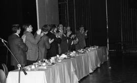 Photograph of guests at a law ring presentation
