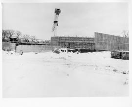 Photograph of the Dalplex construction site with snow