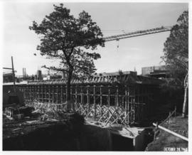 Photograph of the south east corner of the Killam Memorial Library construction