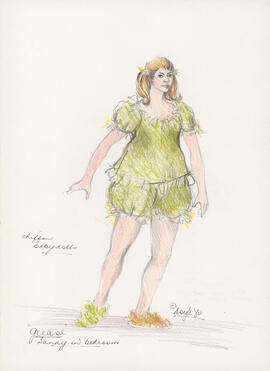 Costume design for Sandy in bedroom