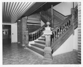 Photograph of a staircase in the Forrest Building