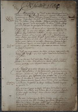 Manuscript journal, detailing an expedition along the Atlantic Coast of Nova Scotia and parts of New Brunswick situated on the Bay of Fundy, July 19, 1684 – September 14, 1684