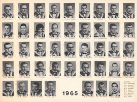 Composite photograph of the Faculty of Medicine - Class of 1965