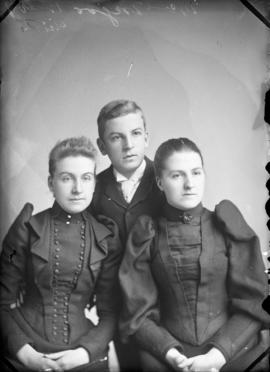 Photograph of Miss McGregor and two unknown individuals