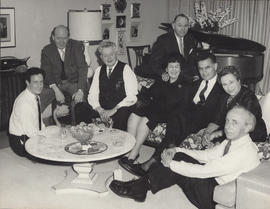 Unidentified group of people including Ellen Ballon