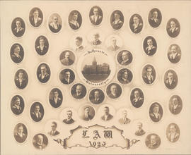 Composite photograph of Faculty of Law class of 1923