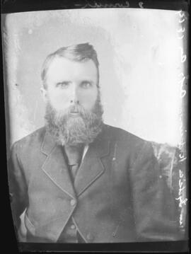 Photograph of an unidentified man commissioned by Lydia Robinson