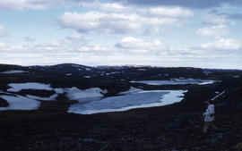 Photograph of a hilly landscape near Frobisher Bay, Northwest Territories