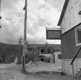 Photograph of a street with power lines in Dawson City, Yukon