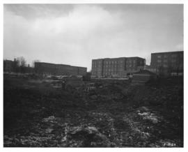 Photograph of the west view of the Killam Memorial Library construction