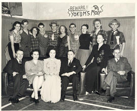Photograph of Dixie Pelluet and A.E. Kerr with students