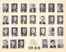 Composite photograph of the Faculty of Medicine - Class of 1938