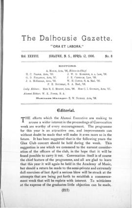 The Dalhousie Gazette, Volume 38, Issue 8