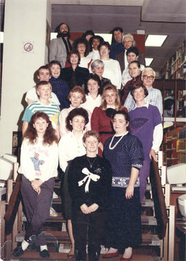 Photograph of the W.K. Kellogg Library Staff 1989