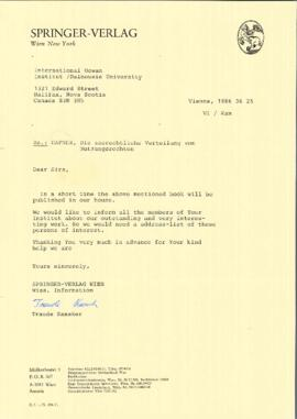 Correspondence with and regarding Gerhard Hafner