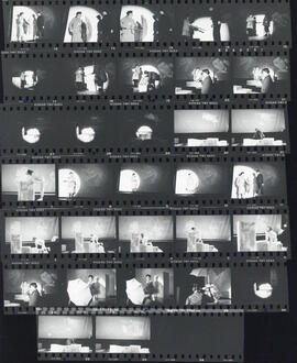 Contact sheet of photographs of performance