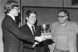 Photograph of Law students taking the Joseph Howe cup