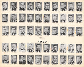 Composite photograph of the Faculty of Medicine - Class of 1959