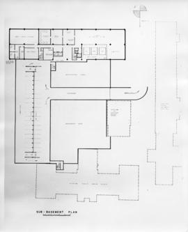 Drawing of the layout of the sub-basement of the Sir Charles Tupper Medical Building