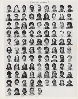Composite photograph of the Faculty of Medicine - Second Year Class, 1973-1974