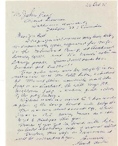 Letter to John Bell from George D. Noiles regarding Leon Trotsky's month at the Amherst Internmen...