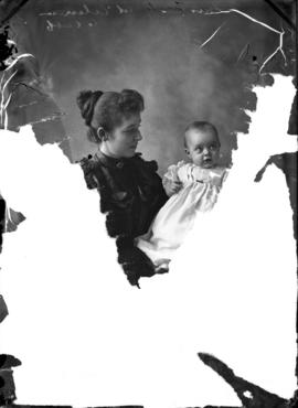 Photograph of Mrs. Tingley and baby