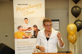 Photograph taken at the grand opening of the Dalhousie University Physiotherapy Clinic
