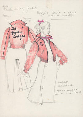 Costume design for Rizzo as a Pink Lady