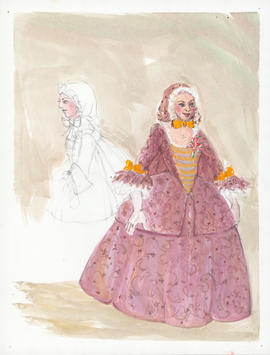 Costume design for unidentified female dancer