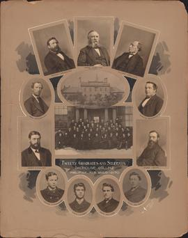 Photographic collage of the Dalhousie College faculty, graduates and students of 1869-1870