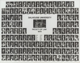 Composite photograph of Faculty of Law graduates of 1979