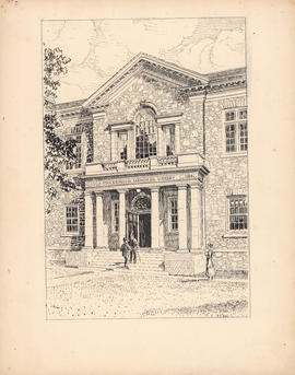The portico of the Macdonald Memorial Library : [drawing]