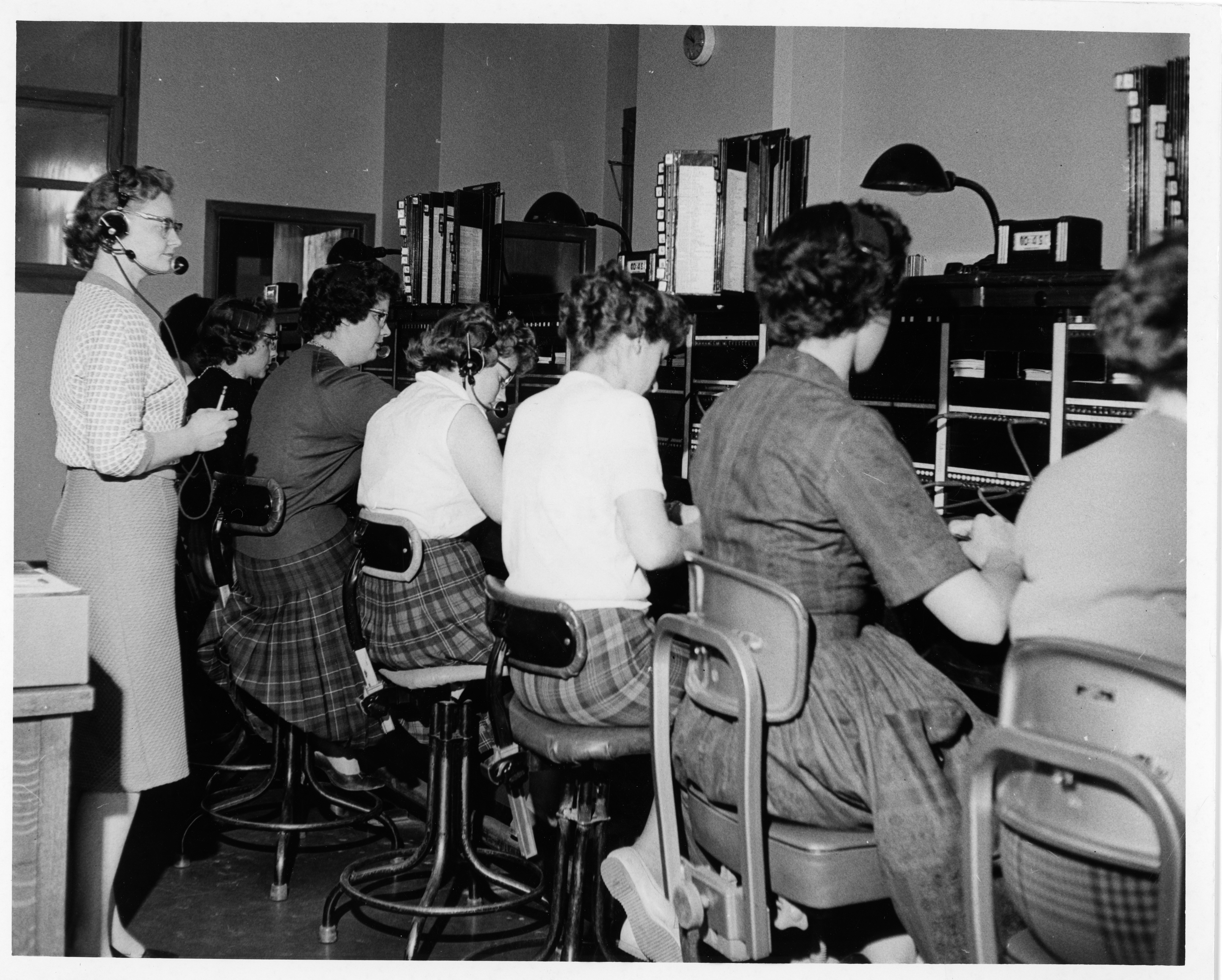 Tremendous Photograph Of Operators At The Switchboard In Summerside Pdpeps Interior Chair Design Pdpepsorg