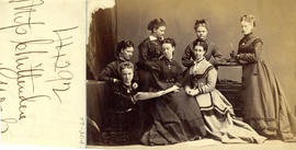 Photograph of seven unknown individuals associated with the Medical Society of Nova Scotia